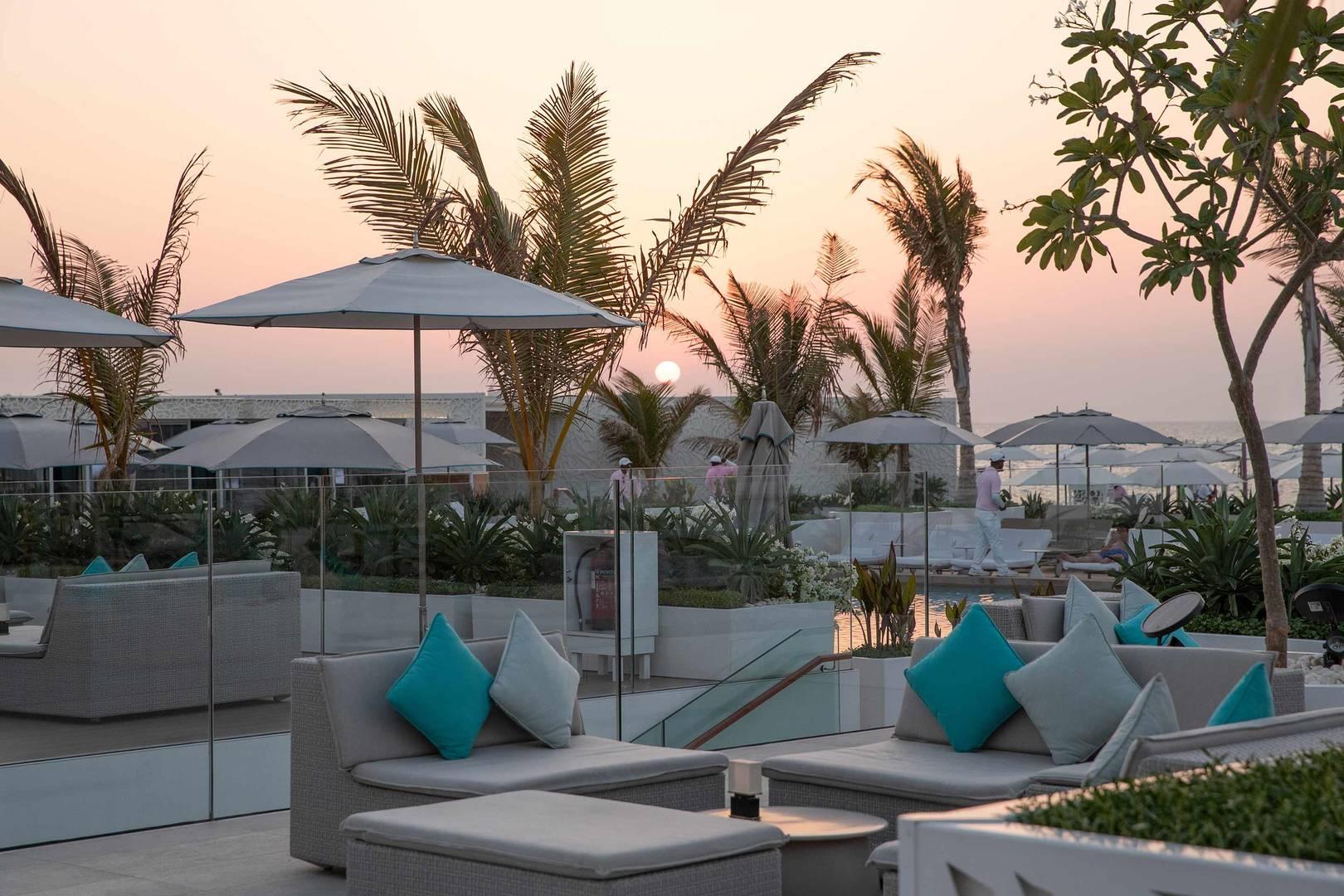 Burj Al Arab Scape lounge sunset