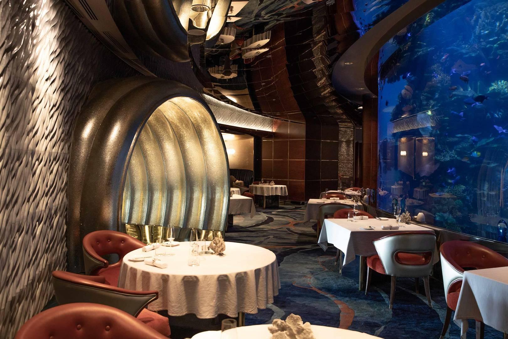 Jumeirah Burj Al Arab Mahara interior dining area