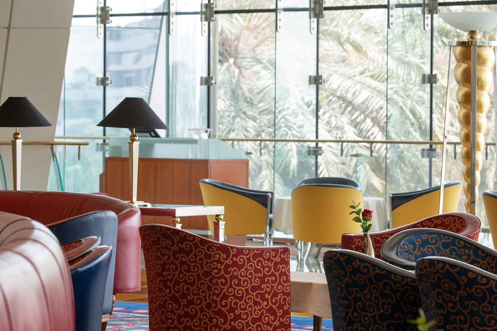 Interior of the Sahn Eddar Restaurant at Burj Al Arab