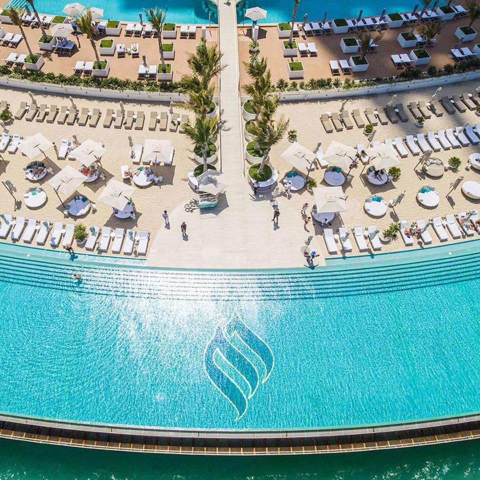 Burj Al Arab Terrace Drone