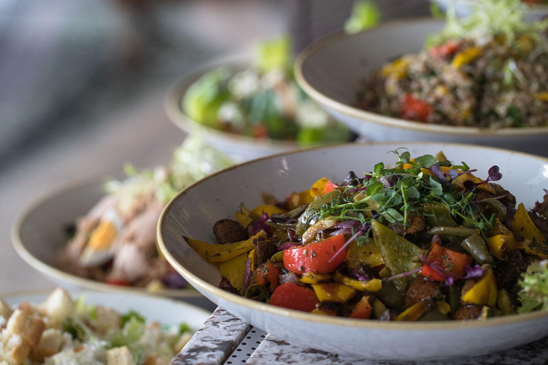 Salads closeup at Jumeirah at Emirates Towers