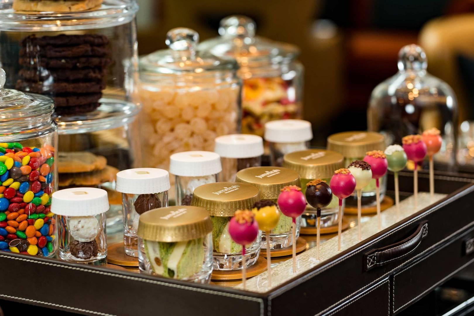 卓美亚法兰克福Ember酒吧及大堂酒廊的糖果