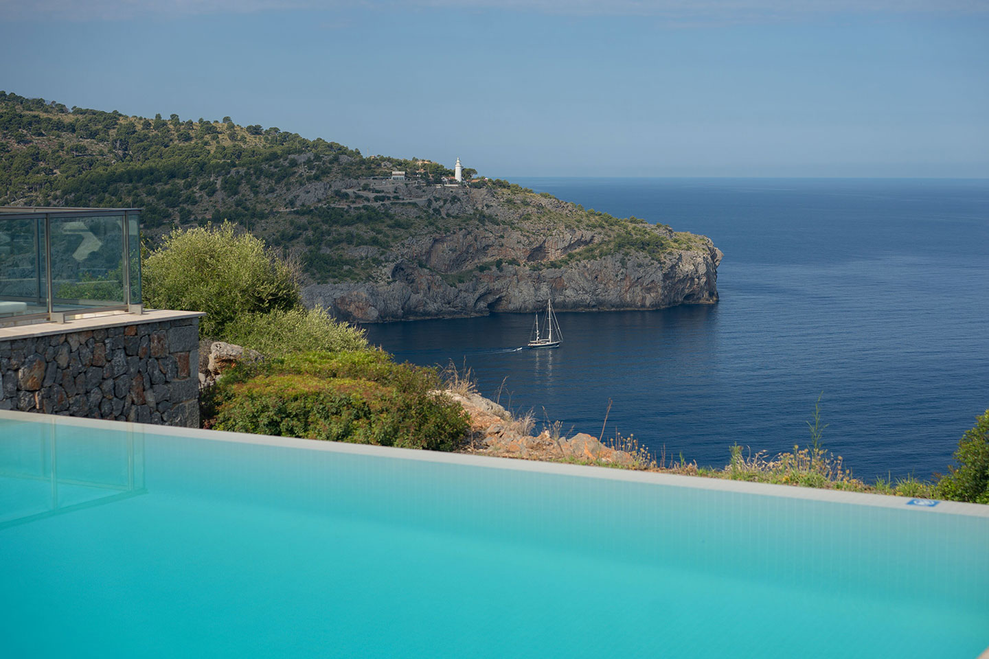 View from Infinity Pool at Jumeirah Port Soller Hotel & Spa
